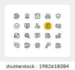 check mark vector line icons.... | Shutterstock .eps vector #1982618384