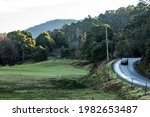 Small photo of Gunns Plains, Tasmania, Australia - 07-25-2020: Travel scenery image. Ideal for illustration of travel, tourism and road use educational themed editorials.