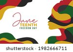 Juneteenth Freedom Day Abstract ...