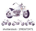 chopper custom grey classic...   Shutterstock .eps vector #1982672471