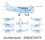 light aircraft  blue stripe...   Shutterstock .eps vector #1982672474
