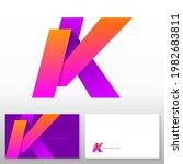 letter k logo design   abstract ... | Shutterstock .eps vector #1982683811
