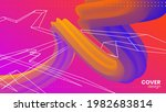 abstract vector background with ... | Shutterstock .eps vector #1982683814
