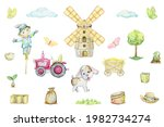 Windmill  Tractor  Scarecrow ...