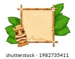 tiki tribal hawaiian mask ... | Shutterstock .eps vector #1982735411