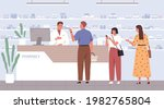 pharmacist helping customers to ...   Shutterstock .eps vector #1982765804