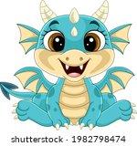 Cartoon Funny Baby Dragon...