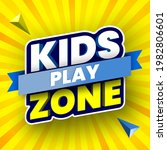 kids play zone banner with... | Shutterstock .eps vector #1982806601