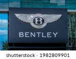Bentley Sign And Logo On The...