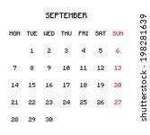 2015 planner calendar | Shutterstock .eps vector #198281639