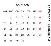 2015 planner calendar | Shutterstock .eps vector #198281681