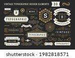 vintage typographic decorative... | Shutterstock .eps vector #1982818571