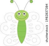 butterfly tracing  kindergarten ...   Shutterstock .eps vector #1982837384
