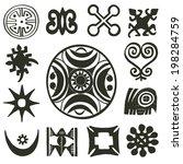 african traditional motifs... | Shutterstock .eps vector #198284759
