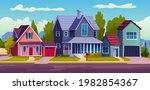 urban or suburban neighborhood  ... | Shutterstock .eps vector #1982854367