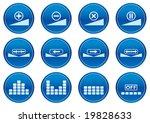 gadget icons set. white   dark... | Shutterstock .eps vector #19828633