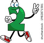 funny green number two 2... | Shutterstock .eps vector #1982871581