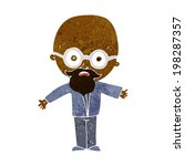 cartoon genius scientist | Shutterstock . vector #198287357