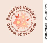 dream of freedom slogan with... | Shutterstock .eps vector #1982893991