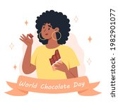world chocolate day  a young...   Shutterstock .eps vector #1982901077