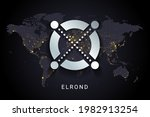 elrond crypto currency digital...   Shutterstock .eps vector #1982913254