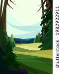 beautiful coniferous forest....   Shutterstock .eps vector #1982922911