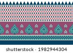 textile flower with stripes ... | Shutterstock .eps vector #1982944304