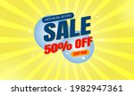sale banner template with... | Shutterstock .eps vector #1982947361