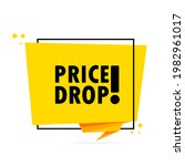 price drop. origami style... | Shutterstock .eps vector #1982961017