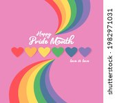 happy pride month banner with... | Shutterstock .eps vector #1982971031