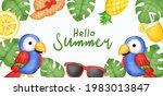 summer banner with summer... | Shutterstock .eps vector #1983013847