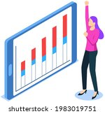 visualize with business... | Shutterstock .eps vector #1983019751