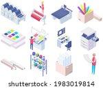 set of equipment for work in... | Shutterstock .eps vector #1983019814