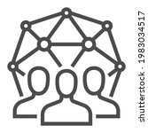 community  square line vector... | Shutterstock .eps vector #1983034517