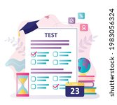 exam form with questions. test... | Shutterstock .eps vector #1983056324