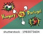 soccer game hungary vs portugal.... | Shutterstock .eps vector #1983073604