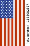 vertical american flag   united ... | Shutterstock .eps vector #1983082937
