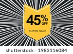 45  off. black banner with... | Shutterstock .eps vector #1983116084