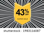 43  off. black banner with... | Shutterstock .eps vector #1983116087