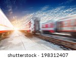 fast moving train  | Shutterstock . vector #198312407