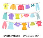 kids clothes rope. childish... | Shutterstock .eps vector #1983133454
