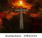 cross floats in space with new... | Shutterstock . vector #19831414
