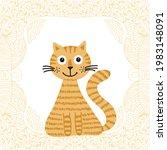 cute cartoon cat. vector...   Shutterstock .eps vector #1983148091