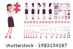 businesswoman  smart office...   Shutterstock .eps vector #1983154187