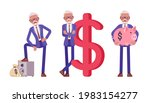 handsome old man in elegant... | Shutterstock .eps vector #1983154277