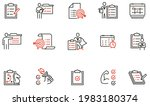 vector set of linear icons... | Shutterstock .eps vector #1983180374