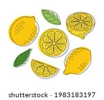 cute hand drawn outline vector... | Shutterstock .eps vector #1983183197