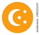 moon and star vector white...