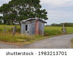A Dilapidated Old Tin Hut On...