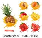pineapple  orange  mango ... | Shutterstock .eps vector #1983241151